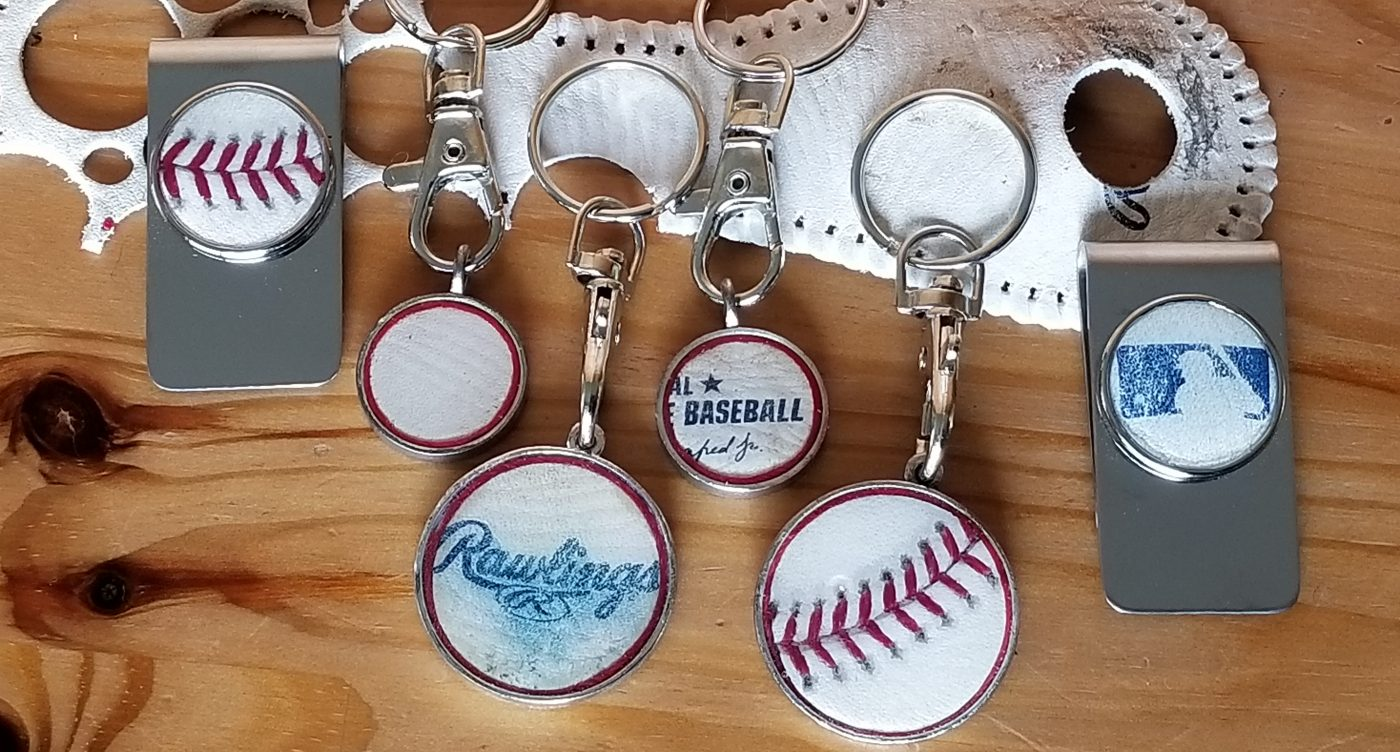 Jewelry and accessories handcrafted from game-used baseballs