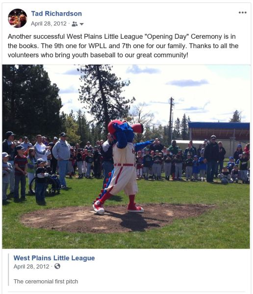 Otto Throws out the 1st pitch of the 2012 WPLL season